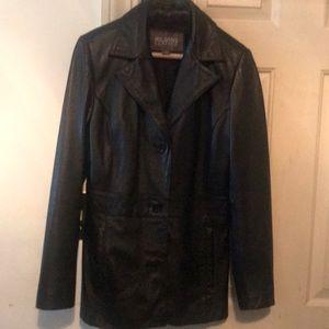 Leather Scuba Jacket, like new, no tares